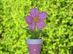 Blumen aus Stoff