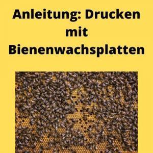 Anleitung Drucken mit Bienenwachsplatten